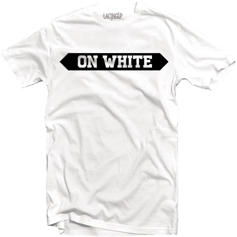 ON WHITE TEE-LACING UP
