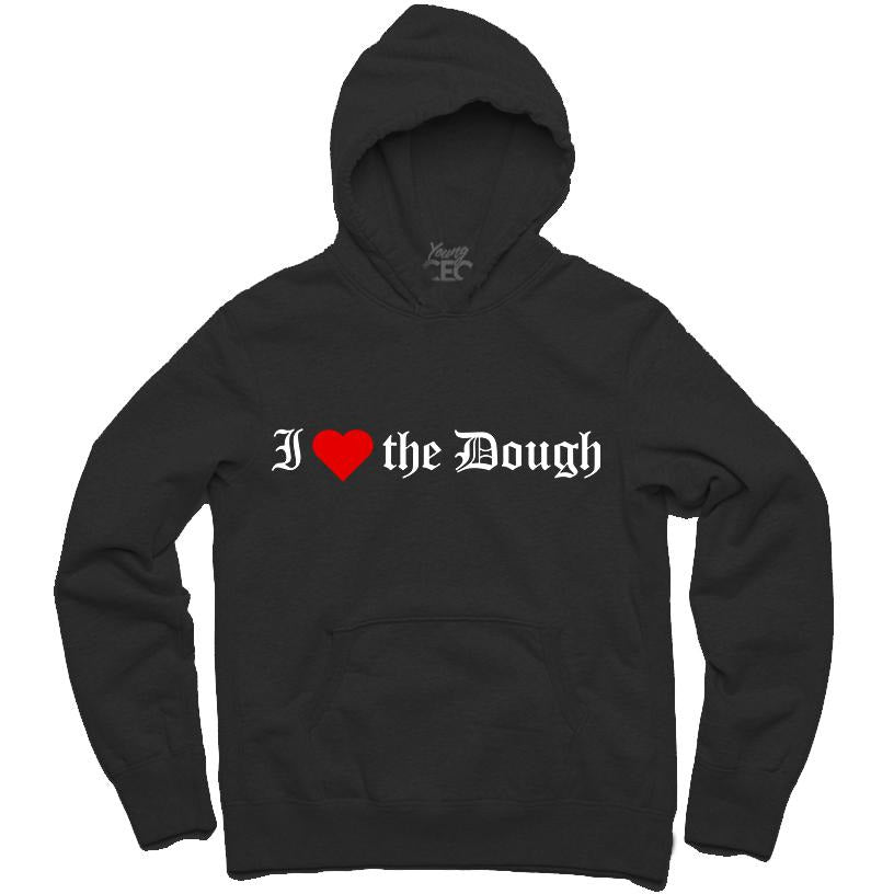 YOUNG CEO-I (HEART) THE DOUGH BLACK HOODIE