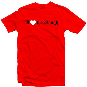 YOUNG CEO-I HEART THE DOUGH RED TEE