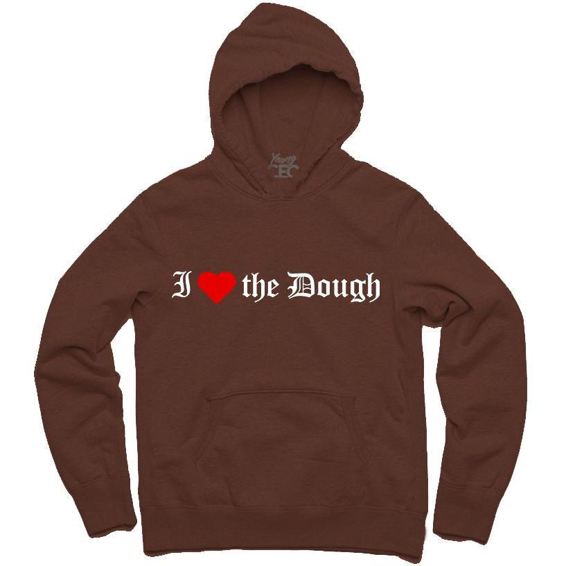 YOUNG CEO-I (HEART) THE DOUGH BROWN HOODIE