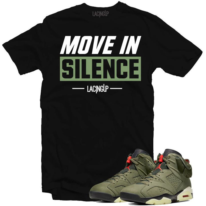 Jordan 6 travis scott silence black tee-Lacing Up