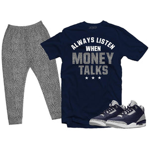 Matching outfit for Jordan 3 Georgetown- Money Talks
