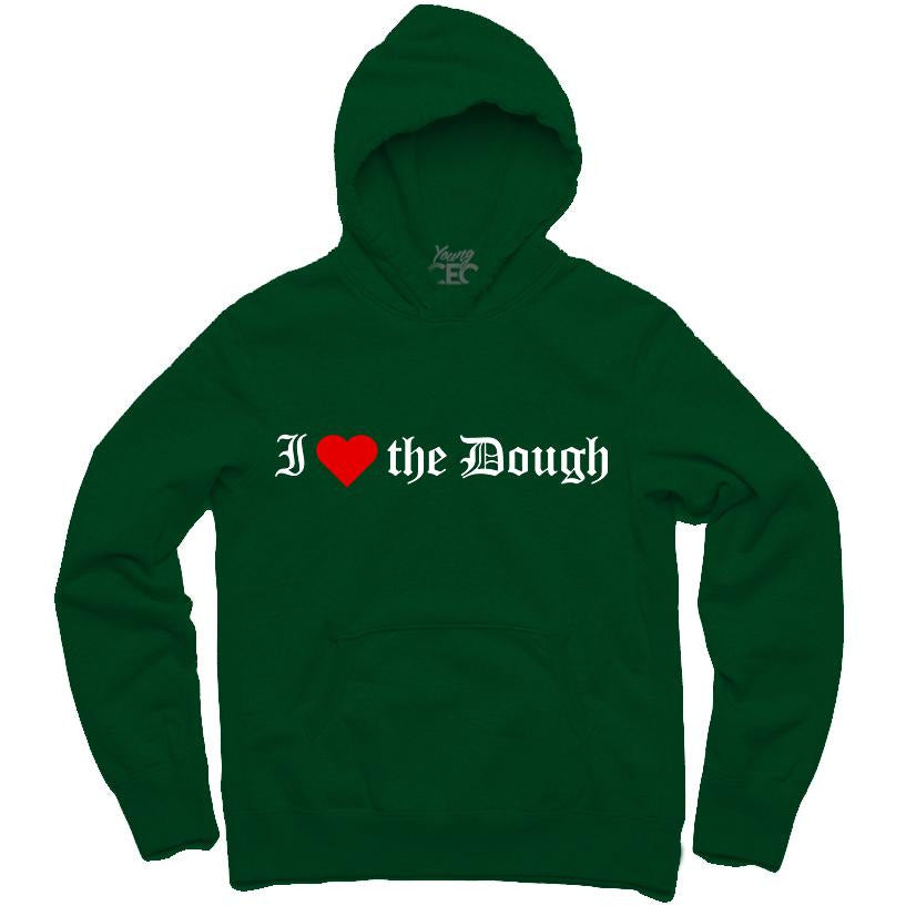YOUNG CEO-I (HEART) THE DOUGH FOREST GREEN HOODIE