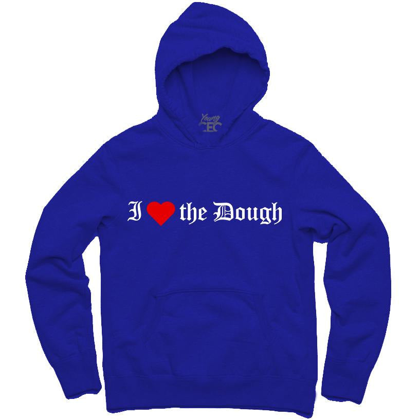 YOUNG CEO-I (HEART) THE DOUGH ROYAL BLUE HOODIE