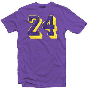 Remembering Mamba 24 Purple tee