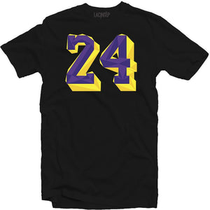 Remembering Mamba black tee-Lacing Up