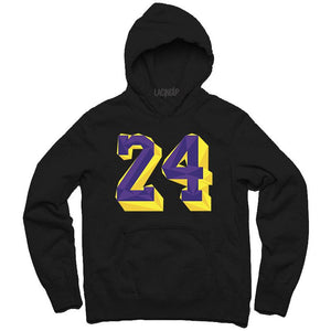 Remembering Mamba black hoodie-Lacing Up