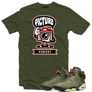 Jordan 6 travis scott picture perfect army tee-Lacing Up