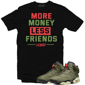 Jordan 6 travis scott more money black tee-Lacing Up