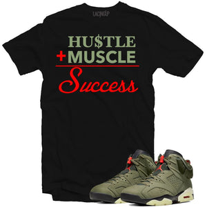 Jordan 6 travis scott success black tee-Lacing Up