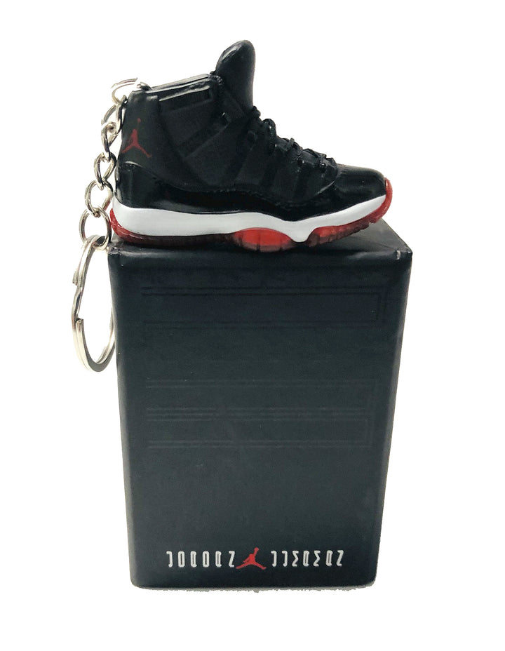 Jordan 11 bred keychain with mini box