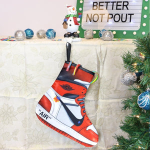 LACING UP-JORDAN 1 OFF WHITE XMAS STOCKINGS