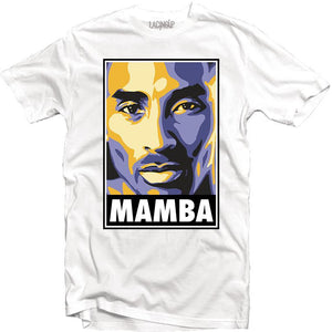 Mamba portrait white tee-Lacing Up