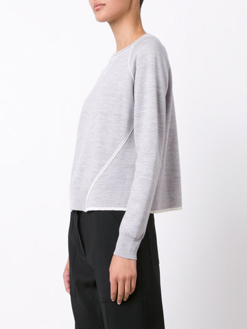 Merino Wool Trapeze Sweatershirt