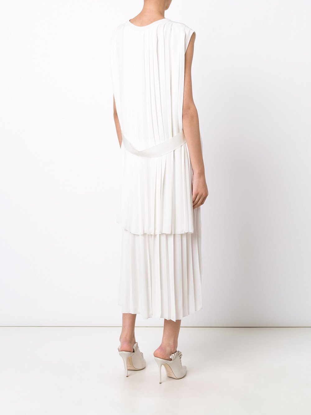 Merino Wool Pleat-Back Dress