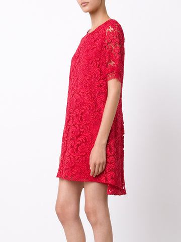 French Corded Lace Pleat Dress