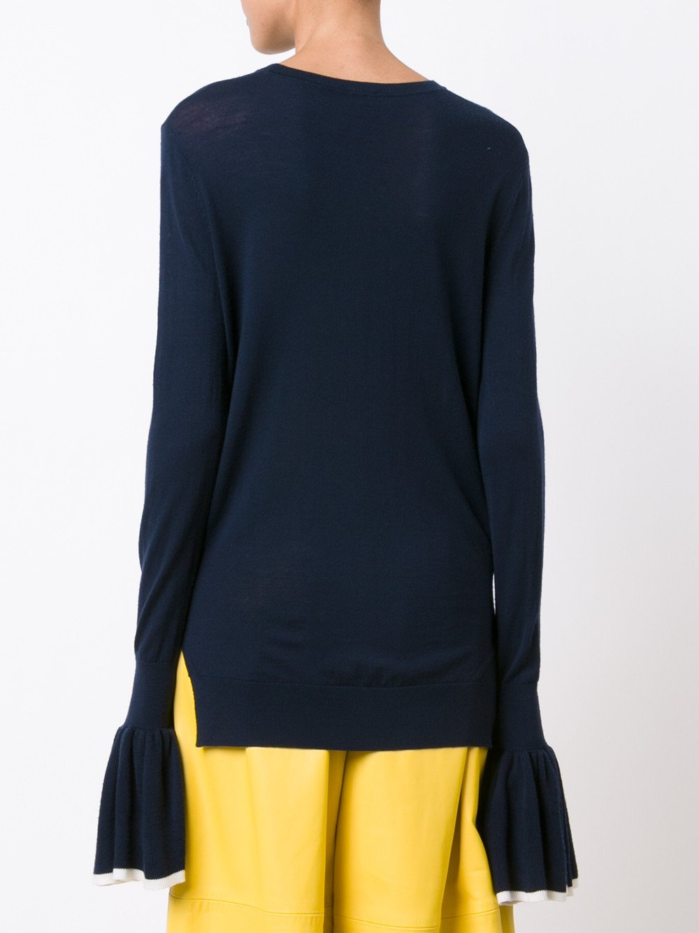 Merino Wool Contrast Sweater
