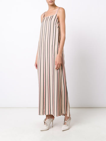 Ribbon Jacquard Striped Dress