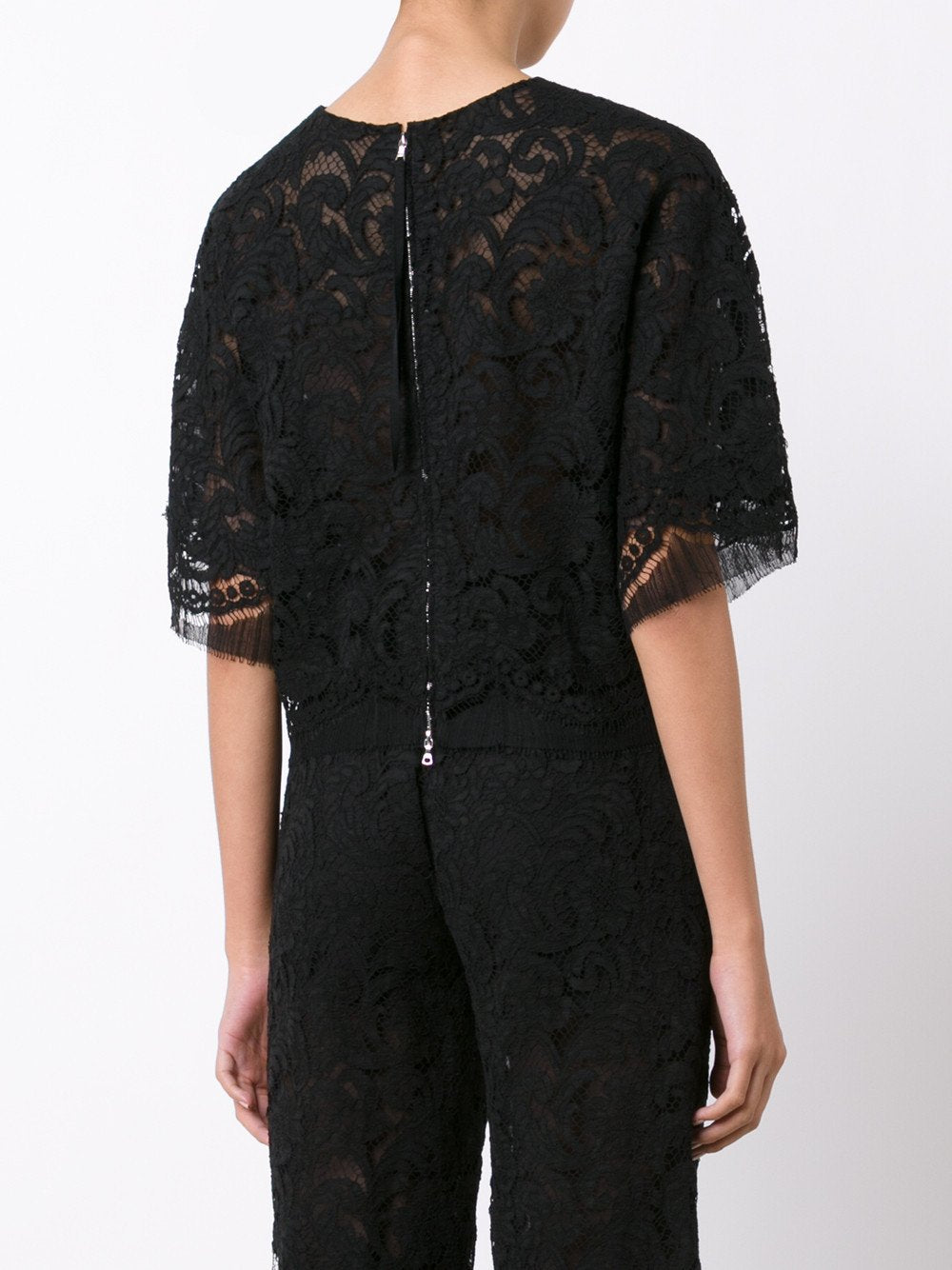 French Corded Lace Dolman Top