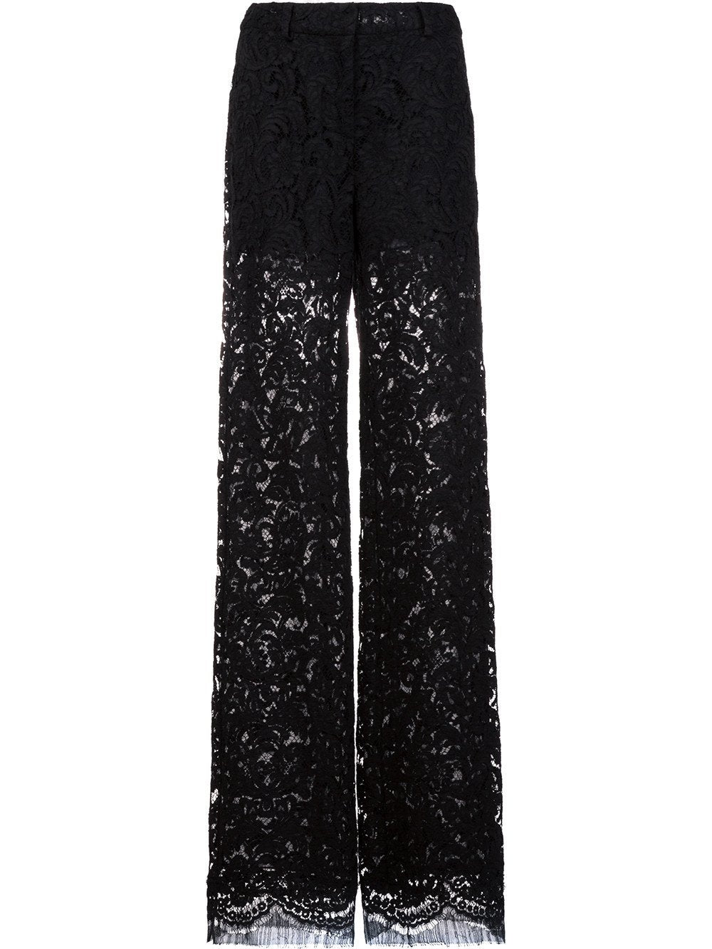 French Corded Lace Wide-Leg Pant