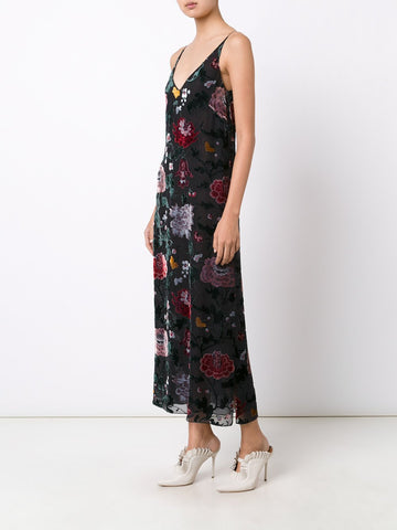 Devoré Floral  Camisole Dress