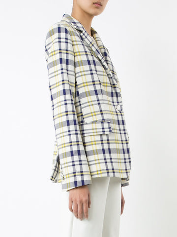 Plaid Cotton Blazer