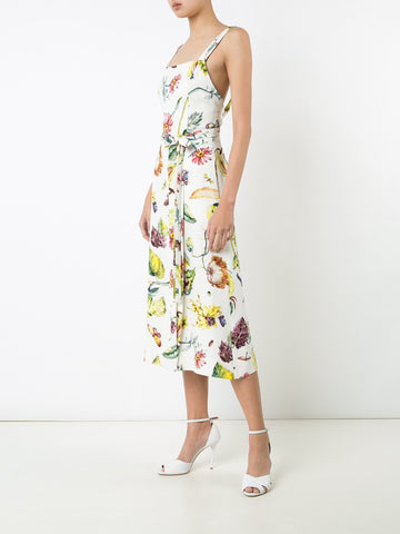 Floral Satin Crepe Tank Dress