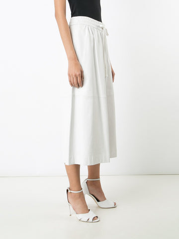 Lambskin Leather Culotte with Elastic Waist  -  Pre-Order
