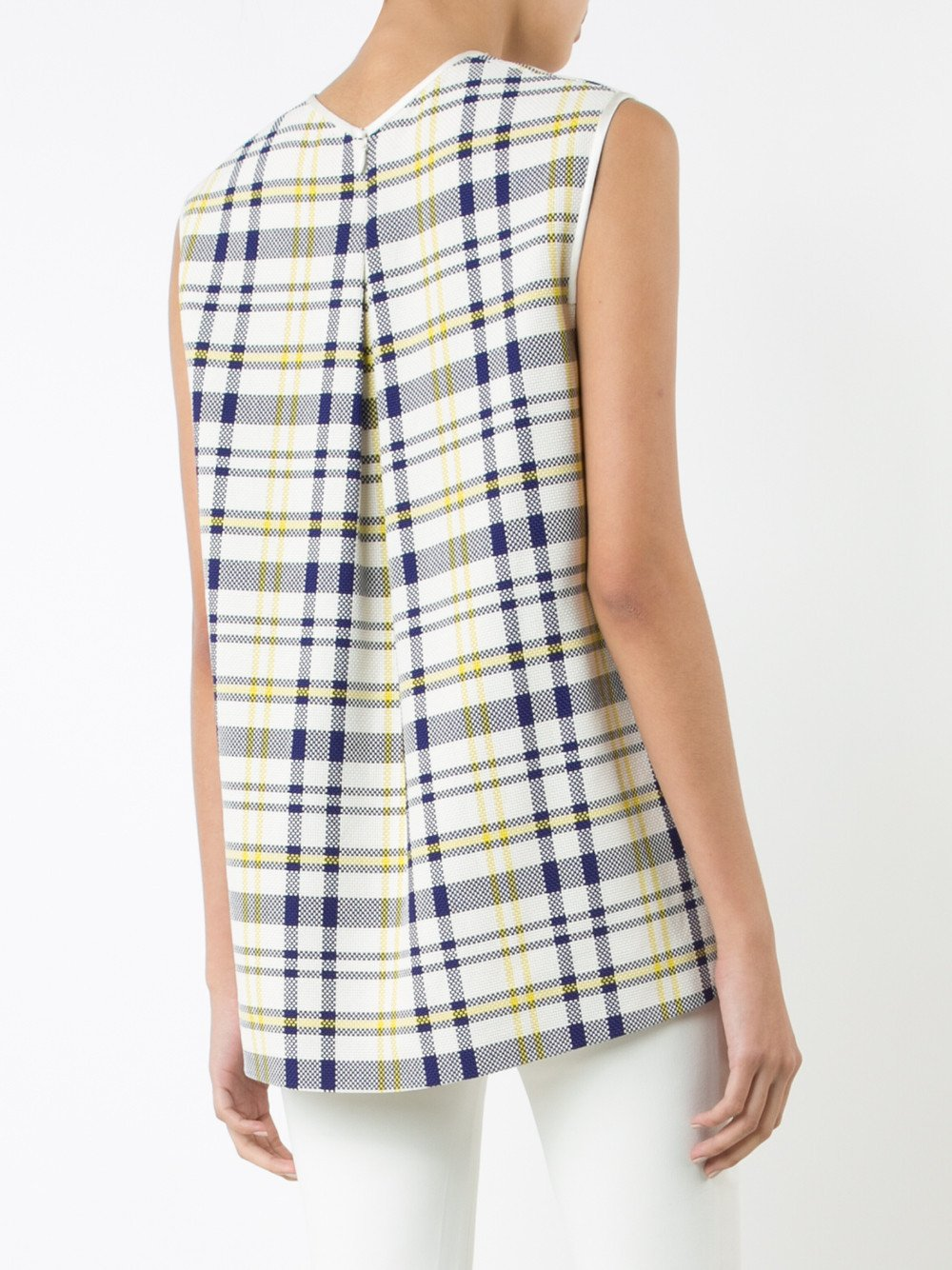 Plaid Textured Cotton Shell