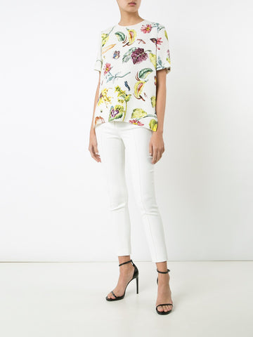 Floral Satin Back Crepe Shirt