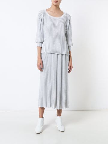 Lurex Ribbed Knit Skirt