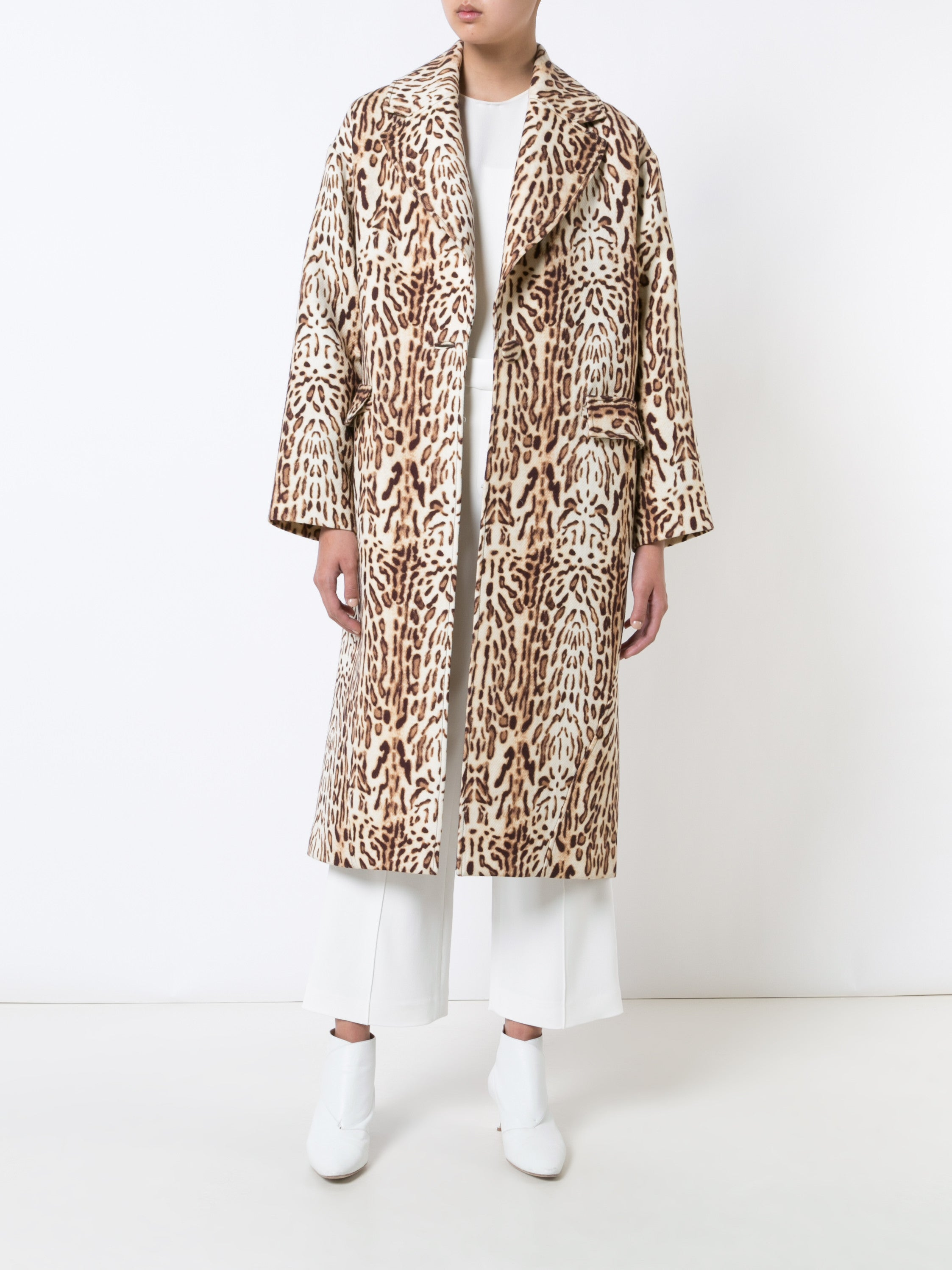 Ocelot Wool Cocoon Coat