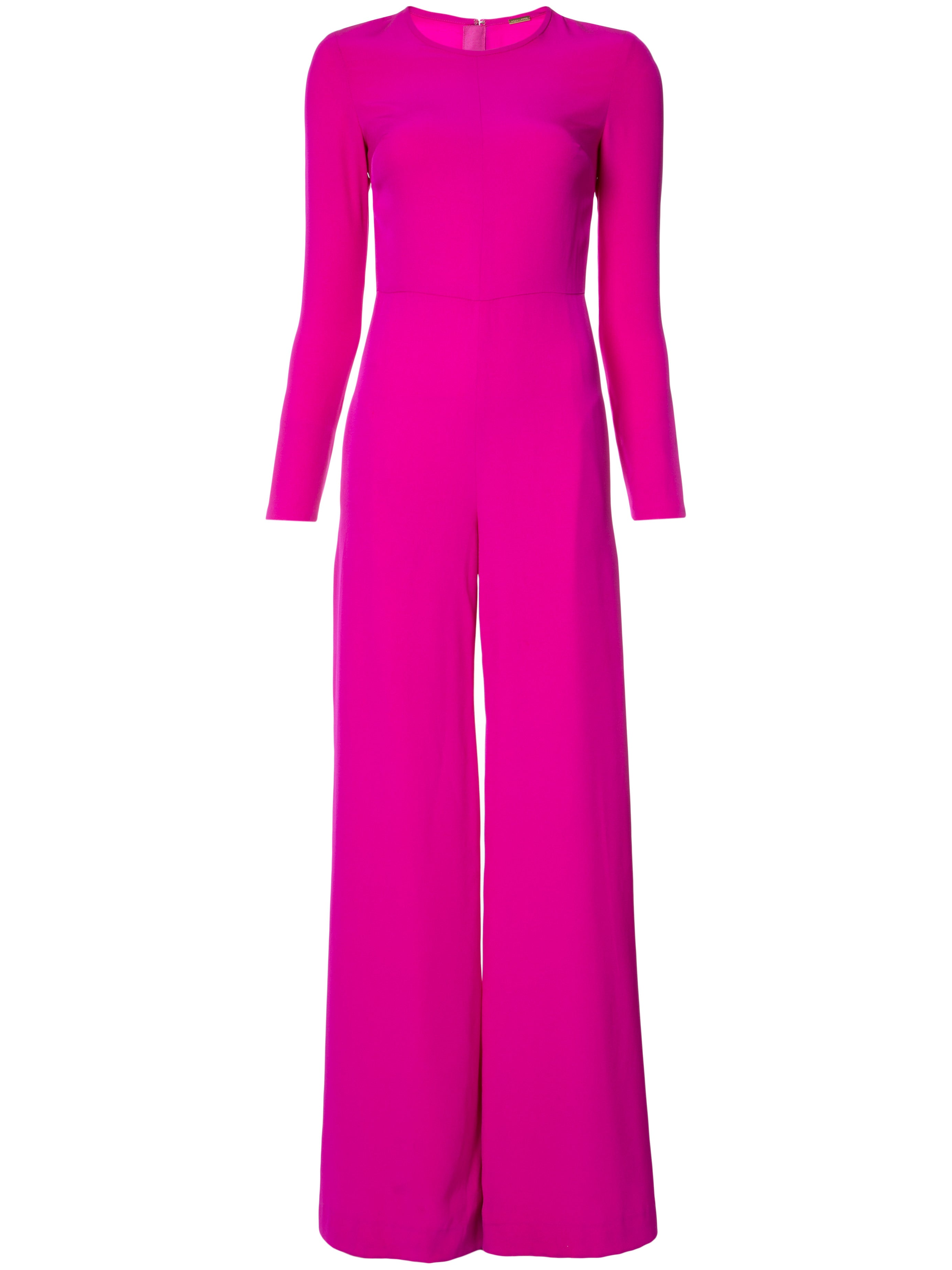 Satin Back Crepe Jumpsuit with Sheer Inset