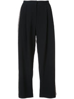 PLEAT FRONT CULOTTE IN EMBELLISHED STRETCH CADY