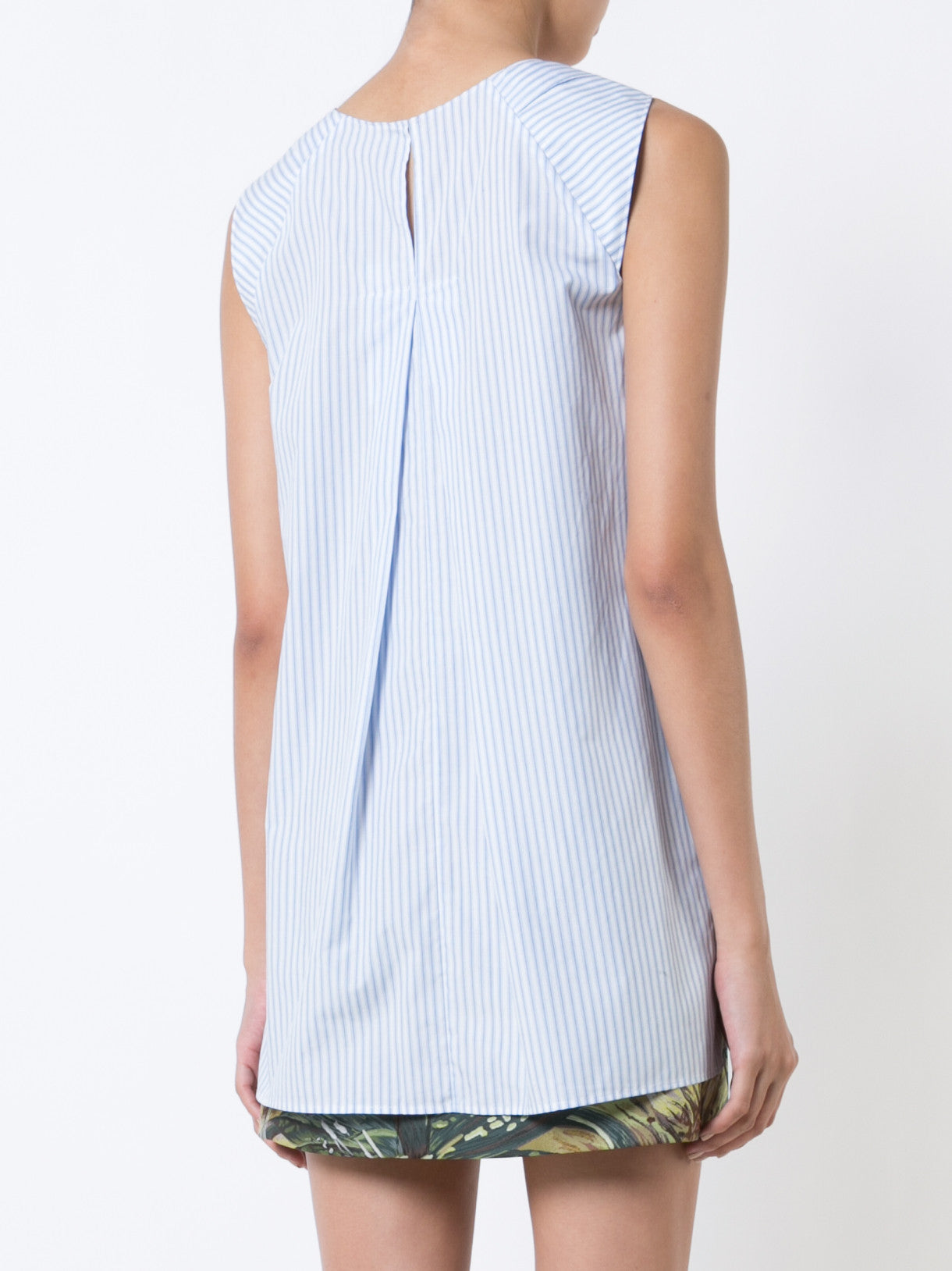 Stripped Cotton Sleeveless Tunic