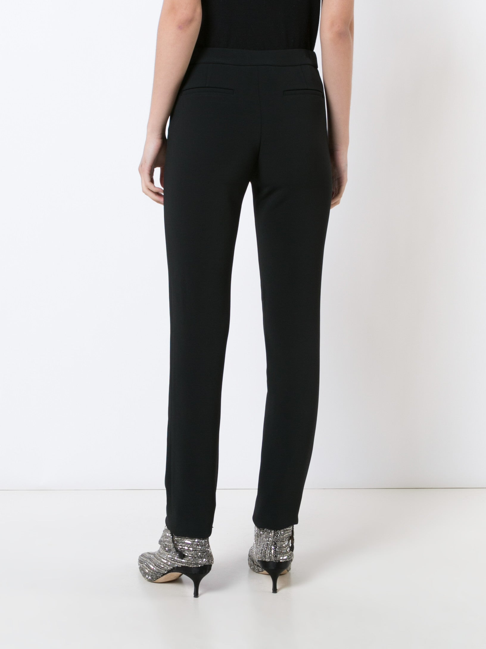 Stretch Cady Side Zip Cigarette Pant
