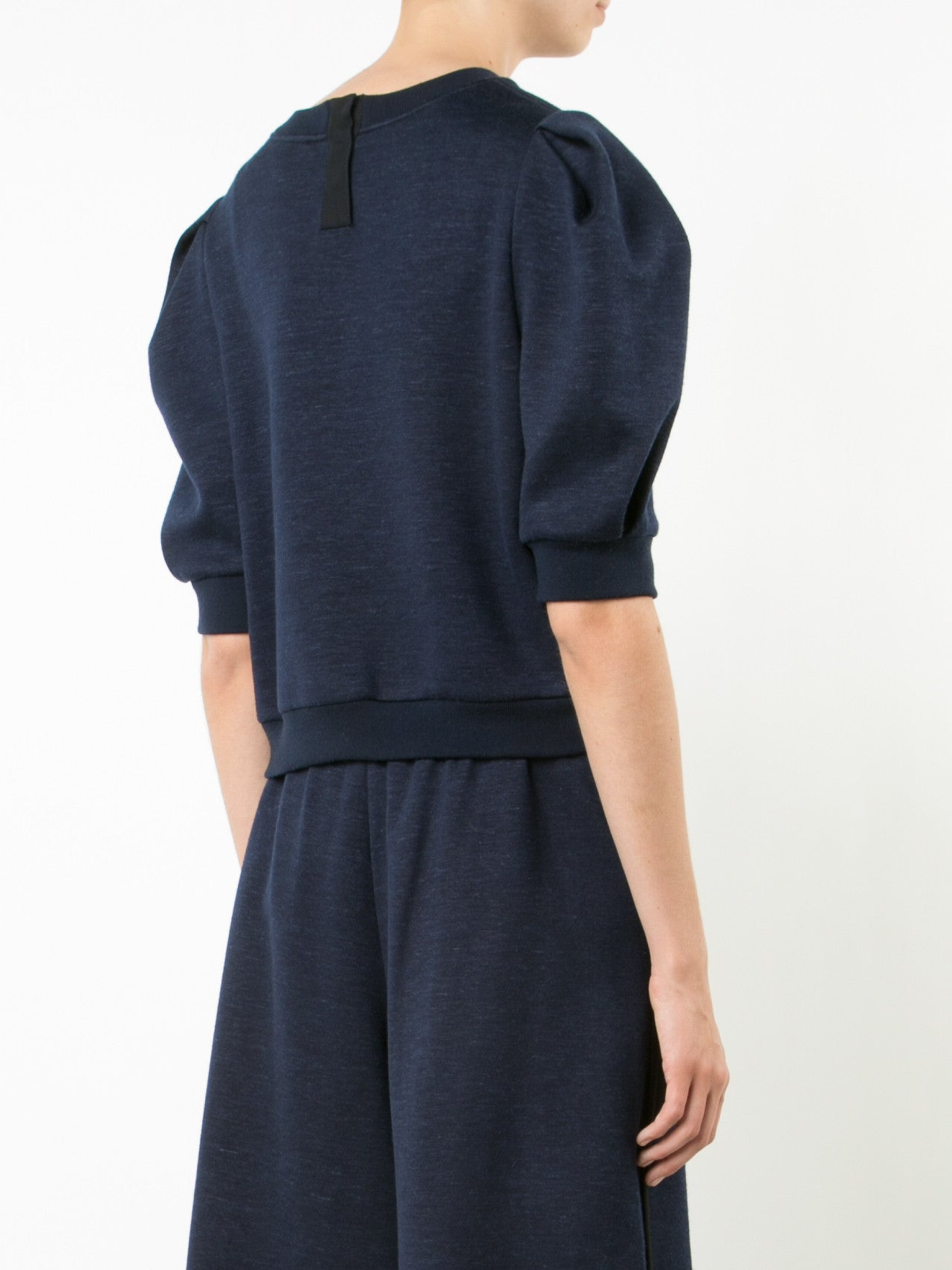 Luxe Jersey Sweatshirt with Puff Sleeve