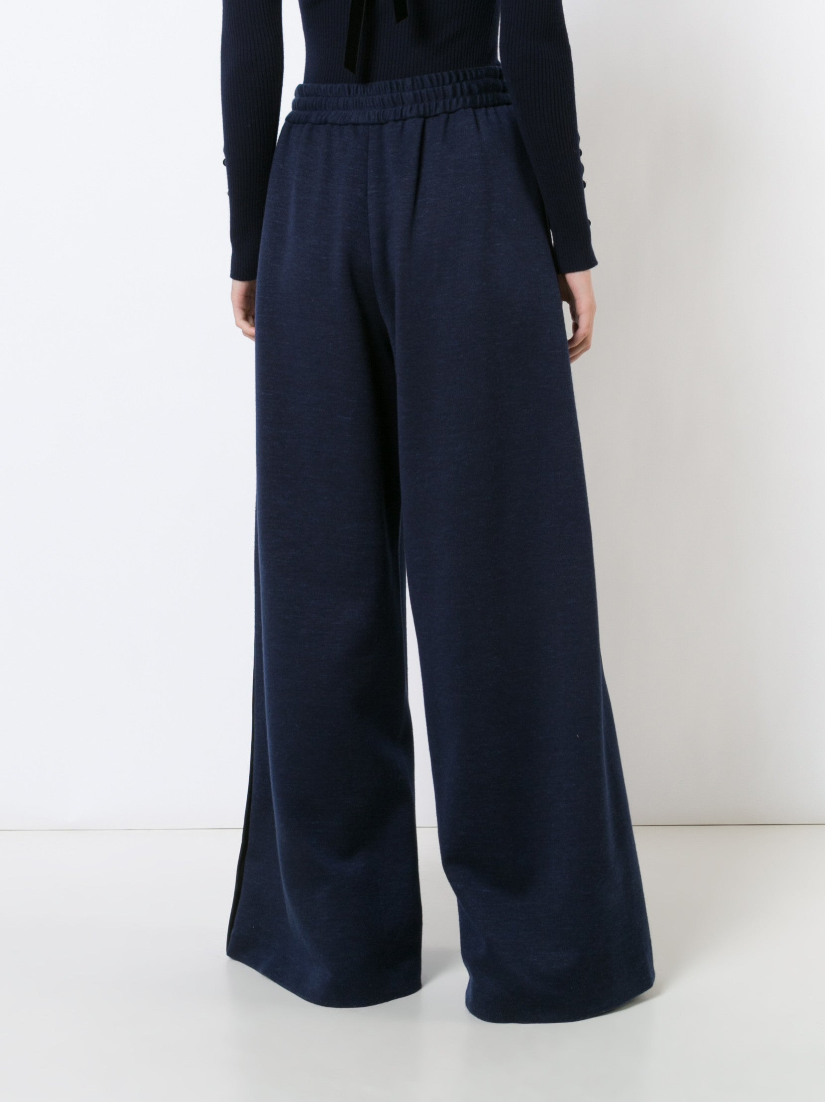 Luxe Jersey Wide Leg Drawstring Pant