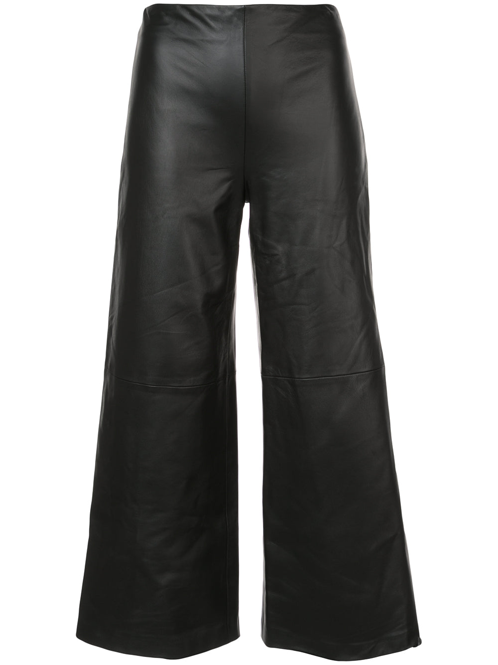 LEATHER WIDE-LEG CULOTTE