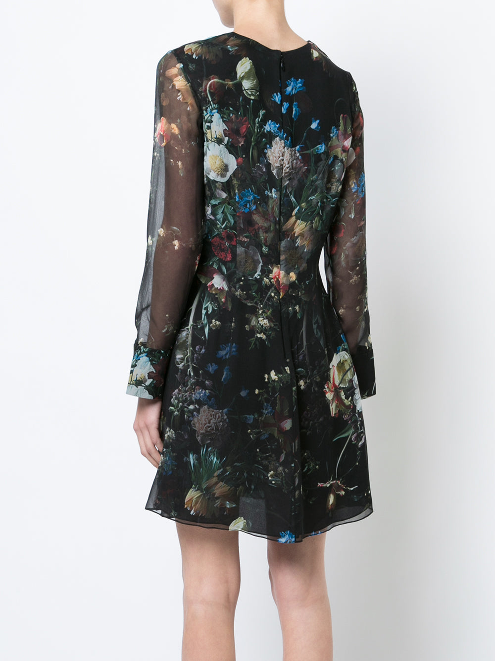 printed chiffon mini dress - Black Adam Lippes 1niCMgoa