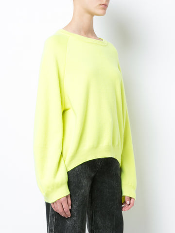 DOUBLE FACE MERINO WOOL SWEATER WITH BALLOON SLEEVE