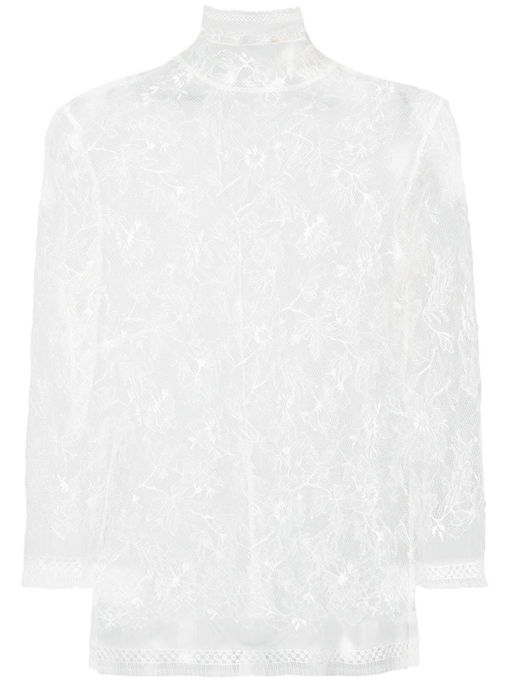 CHANTILLY LACE LONG SLEEVE TURTLENECK