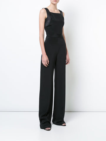 SILK CREPE FITTED OVERALL JUMPSUIT  -  PRE-ORDER