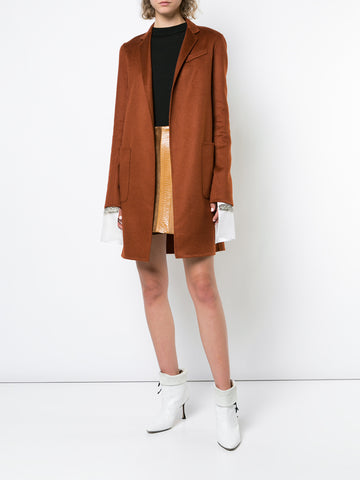 SILK CREPE HOODED ANORAK