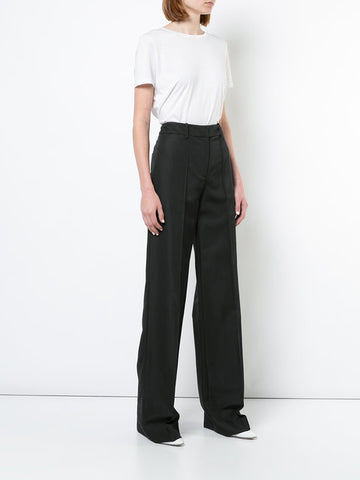 GABARDINE WOOL TROUSER WITH PINTUCK