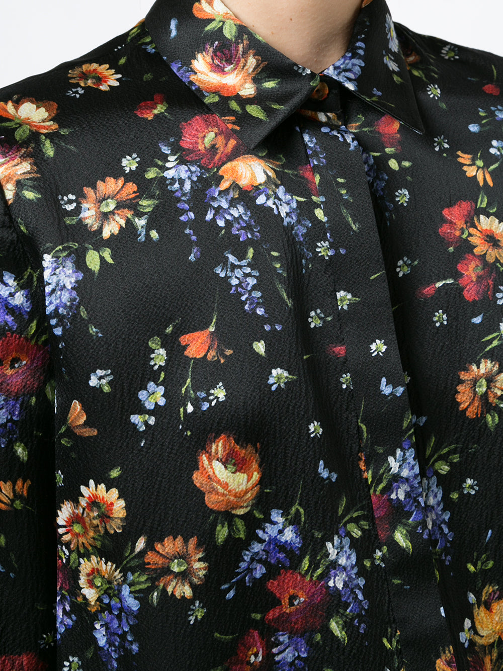 FLORAL HAMMERED SILK  MENSWEAR SHIRT