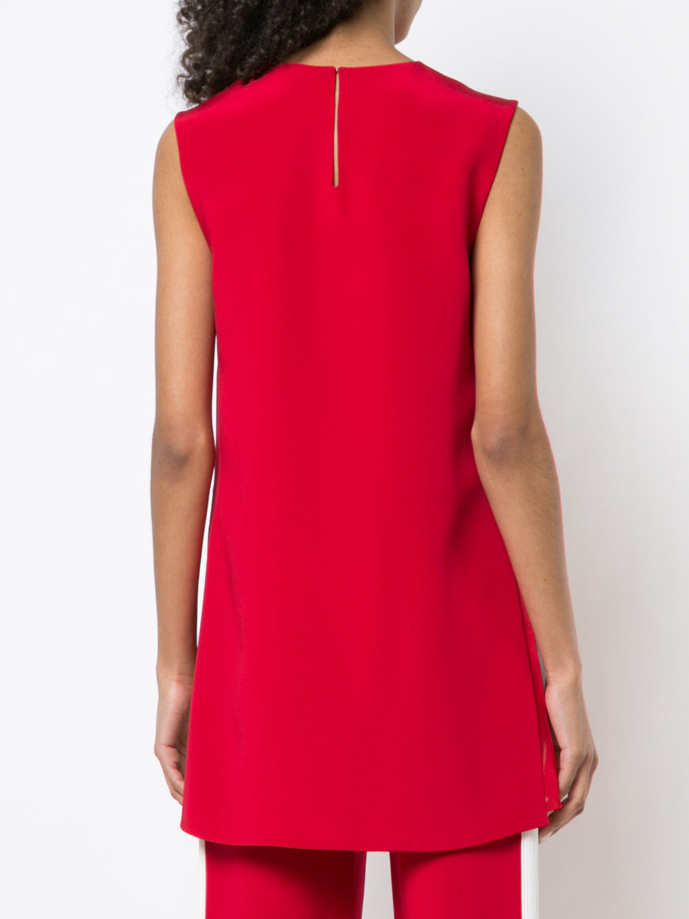 SILK CREPE SLEEVELESS TUNIC