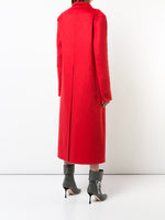 COAT WITH POCKETS IN ZIBELLINE CASHMERE