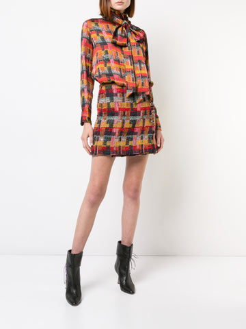 PAINTED VELVET JACQUARD SLEEVELESS TUNIC