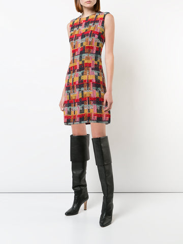 TWEED SLEEVELESS SHEATH DRESS